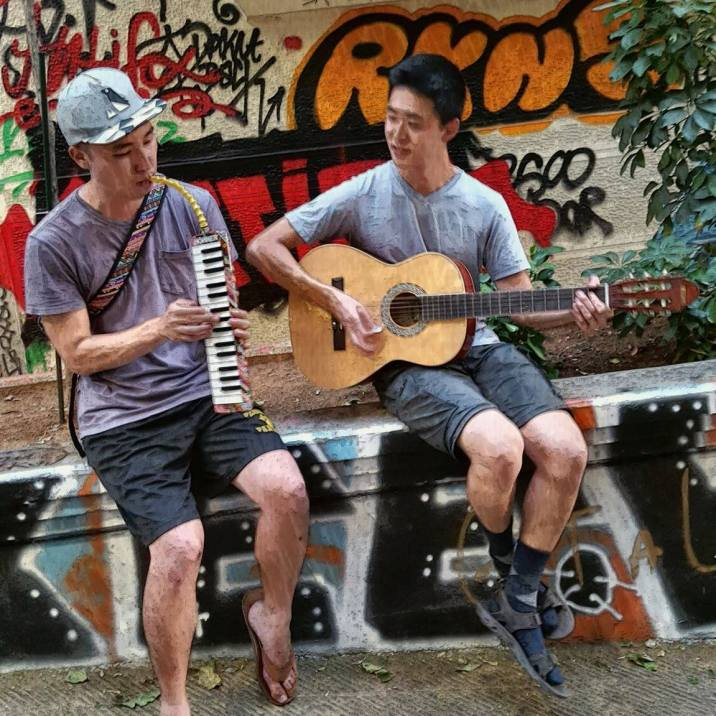 Busking in Greece